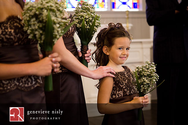 A very happy flowergirl!